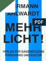 Ahlwardt, Hermann - Mehr Licht - Der Orden Jesu in seiner wahren Gestalt (1925)