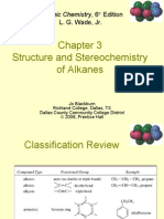 Structure and stereochemistry of alkanes