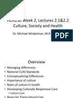 M1L2.1 2.2 Culture Society Health