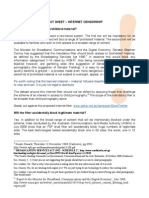 Internet Censorship Factsheet