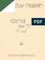Poemes pour mi - Messiaen