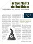 Psychoactive Plants in Tantric Buddhism Cannabis and Datura Use in Indo-Tibetan Esoteric Buddhism