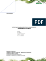 Livro interculturalidade e interdiciplinaridade na educação do campo