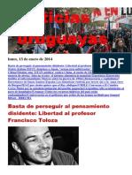 Noticias Uruguayas Lunes 13 de Enero Del 2013