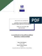 Ramiez, J. C. - La coordinación en las políticas públicas. Elementos e institucionalidad