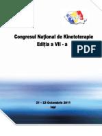 Congresul National de Kinetoterapie - Editia a VII-A