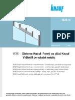 Knauf 25844 Knauf Sisteme de Pereti de Compartimentare Cu Placi Vidiwall Pe Schelet Metalic w 36