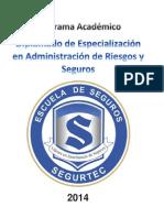 Diplomado de Especialización en  Seguros