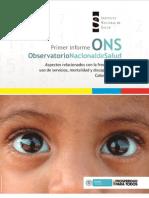 Observatorio Nacional de Salud Primer Informe ONS