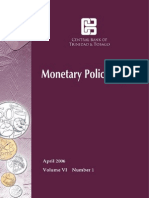 Monetary Policy Report April 2006