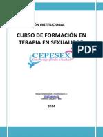 Plan Curricular del Curso de Formación en Terapia en Sexualidad_2014