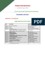 Program Timetable