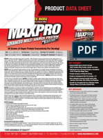 Maxpro Protein by Max Muscle Sports Nutrition