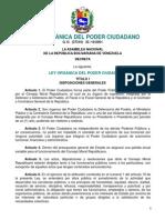Ley Orgánica del Poder Ciudadano - Venezuela