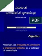 DISEÑO DE LA SESION DE APRENDIZAJE PROPUESTA