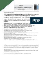 Toxoplasmosis congénita. Guía colombiana de infectología. 2012