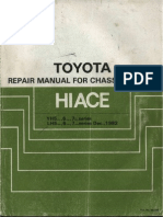 Toyota Hiace LH5x,6x,7x, YH5x,6x,7x Repair Manual for Chassis and Body