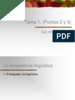 La competencia lingüística