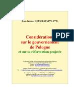 Rousseau Jean-Jacques Considérations sur le gouvernement de Pologne