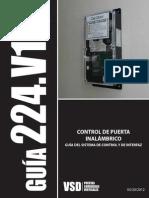 224 - Wireless Door Controller Guide - Spanish