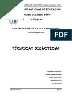 TECNICAS DIDACTICAS Monografia Terminado