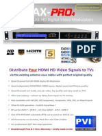PVI VeCoax Pro4 HDMI to QAM HD Digital RF Modulator Specifications