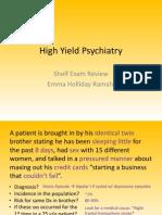 High Yield Psychiatry