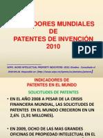 INDICADORES MUNDIALES PATENTES DE INVENCIÓN