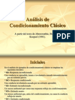 Análisis de Condicionamiento Clásico