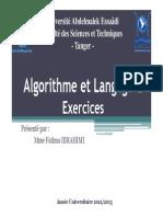 Algorithme - Exercices (1)