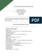 Biomechanics of Human Movement Resource Guide
