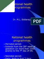 National Health Programmes