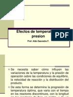 Efectos de t y p