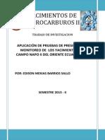 Aplicacion de Pruebas de Presion en Yacimientos Del Campo Napo II