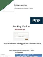 Hotel Admin Booking window