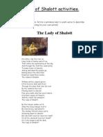 Lady of Shalott Activities