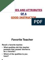 010114 Qualities & Attributes of Trainer