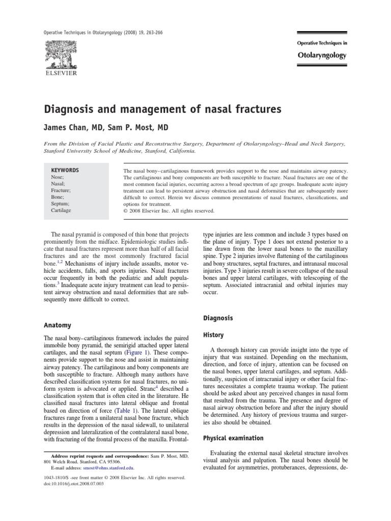 Diagnosis and Management of Nasal Fractures | Human Nose | Human ...