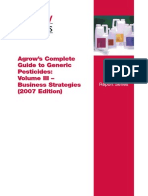 Agrow Report on agrochemicals | Pesticide | Agricultural