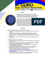 Mathemascian VI Invitation Letter for Schools - Mechanics