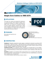 Single Core Cables to VDE 0276