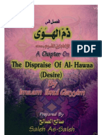 A Chapter on The Dispraise of Desire - Ibn Al-Qayyem - فصل في ذم الهوى
