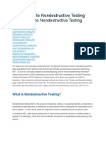 Ndt non distructive tests