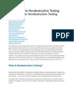 Ndt non distructive tests