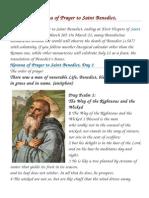 BOOK Novena of Prayer to Saint Benedict