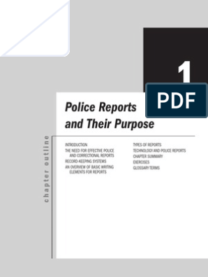 Police Reports and Their Purpose | Arrest | Police