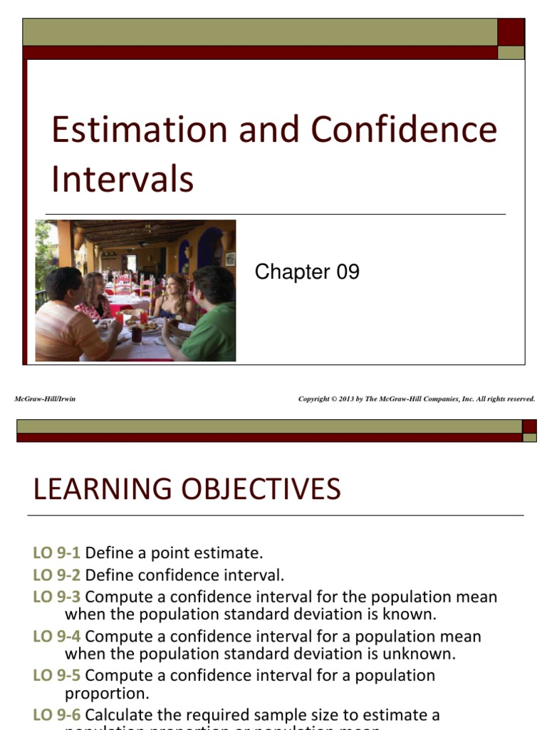 Stat Chap009 Confidence Interval Sample Size Determination