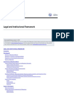 Legal and Institutional Framework(1)