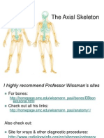 Power Point Presentation about Lecture 7 - Axial Skeleton