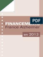 Les Financements France Alzheimer en 2013